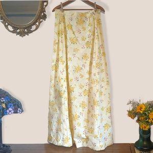 70's vtg handmade floral maxi skirt